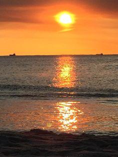 Port beach sunset