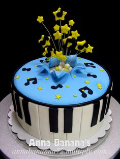 need pictures of birthday cakes with a musical theme | Original Embed
