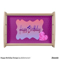 Happy Birthday Design Serving Tray