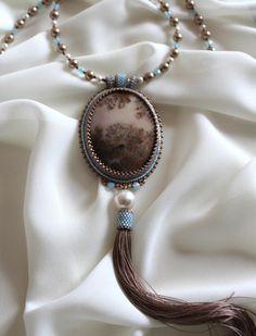 Элиза кулон-колье   biser.info - всё о бисере и бисерном творчестве
