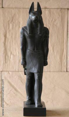 Figura Anubis. Egipto. H:36cm. www.decorarconarte.com