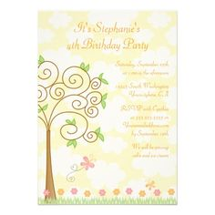 Shop Sweet butterfly garden birthday party invitation created by Jamene. Butterfly Birthday Party, Garden Birthday, Flower Birthday, 25th Birthday Parties, Kids Birthday Party Invitations, Sweet, Paper Plates, Banners, Balloons
