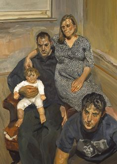 The Pearce Family, 1998 - Lucian Freud - WikiArt.org