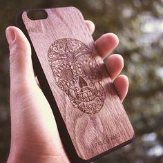 "iPhone 6/6S massive wooden panel ""Braincase"" American walnut #iphonecase #woodencases #woodenaccessories #cooking #lovecooking #чехолдляiphone Чехол для iPhone 6S"