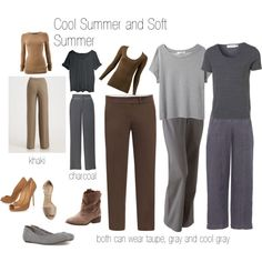 cool and soft summer neutrals, created by expressingyourtruth on Polyvore