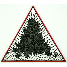 Keith Haring A Pile of Crowns for Jean Michel Basquiat, 1988, Collection Keith Haring Foundation