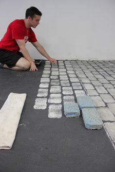Maison Decor-faux cobblestone floor