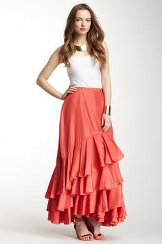 Flora Wrap Silk Skirt