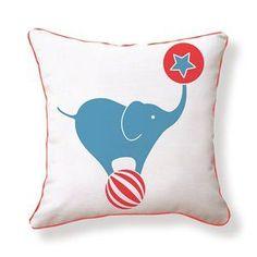 Circus Elephant Pillow By Supon Phornirunlit Features: Zipper closu...