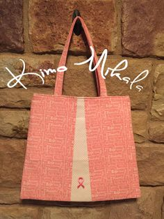 Breast Cancer Awareness Pink Ribbon Purse by KimoMikalaSewing
