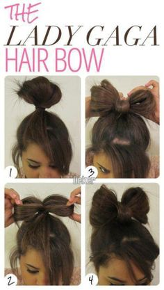 Lady gaga hair bow tutorial step by step Good for last minute hairstyles