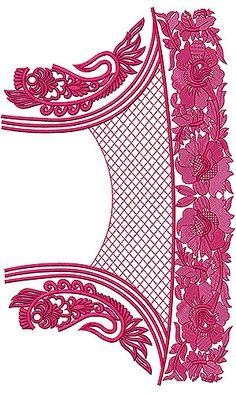 Anarkali Designer Dress Embroidery Design