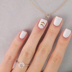 Awesome nail art designs for women 2015 unhas chiques, unhas bonitas, unhas perfeitas, Love Nails, How To Do Nails, Pretty Nails, Fun Nails, Cute Simple Nails, Classy Nails, White Nail Art, New Nail Art, White Summer Nails
