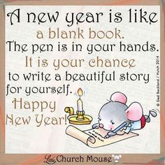 Happy New Year 2016 Little Church Mouse .