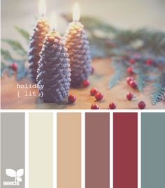 our palette with the exception of the spruce blue/green and grey on each end