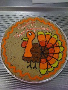 Thanksgiving cookie cake #cookiesbydesignokc