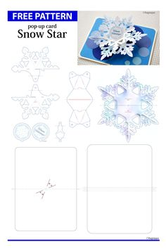 Make Flower Pop-Up Card/kirigami pattern Kirigami Patterns, Card Patterns, Diy Pop Up Cards Templates, Diy Cards, Pop Up Karten, Karten Diy, Arte Pop Up, Libros Pop-up, Snowflake Cards