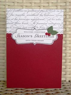 Welcome to Christmas 2012 by stamp my day - Cards and Paper Crafts at Splitcoaststampers