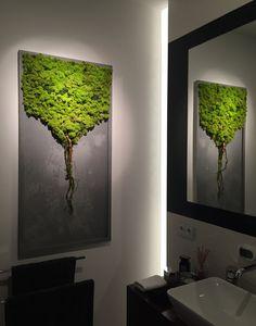 > MAKE ONE BIG TREE Moss Wall Art, Moss Art, Vertical Garden Wall, Garden Wall Art, Plant Wall, Plant Decor, Green Art, Home Decor Inspiration, Wall Design