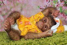 Мартышка номер два. Кукла реборн Светланы Преображенской / Куклы Реборн Беби - фото, изготовление своими руками. Reborn Baby doll - оцените мастерство / Бэйбики. Куклы фото. Одежда для кукол