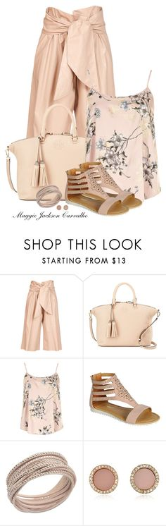 """Color Me Pretty: Head-to-Toe Pink"" by maggie-jackson-carvalho on Polyvore featuring MSGM, Tory Burch, Dorothy Perkins, Swarovski and Michael Kors"