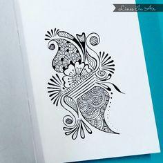 Easy henna. #henna #mehndi #tattoo #design