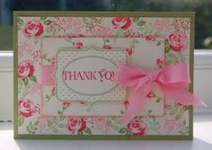 Julie's Japes - An Independent Stampin' Up! Demonstrator in the UK: Baby Blossoms Thank You Card