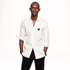 PLAY Comme des Gar?ons® white button-down shirt