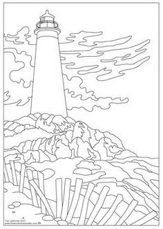 26 Best Lighthouse coloring book images in 2019 | Light house ...