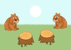 Подборка игр и упражнений на тему «Два жадных медвежонка»
