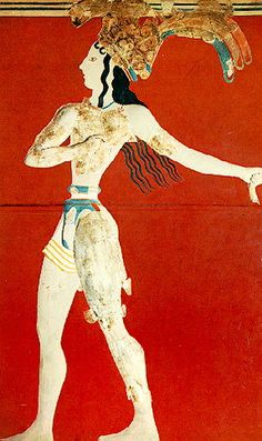 Knossos, Paleis, Prins van de lelies, ca. 1550 v.Chr., Archeologisch Museum Heraklion