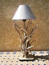 lampe bois flotte et corde