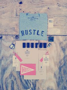 HUSTLE /  great self-promotion design from Neuarmy. via FPO. #letterpress #graphic_design #typography