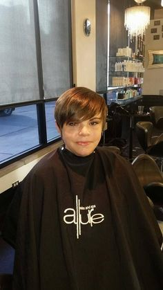 Thank you Brenda Jahn for coming in today and letting me do your beautiful hair. . V necks are in..