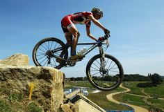 Catharine Pendrel: Women's mountain bike.