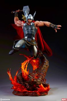 Drawing Marvel Comics Sideshow Collectibles Premium Format Figure Marvel Comics【Breaker of Brimstone】Thor:Breaker of Brimstone Arte Dc Comics, Bd Comics, Marvel Comics, Poster Marvel, Marvel Comic Character, Marvel Characters, Marvel Heroes, Marvel Statues, The Mighty Thor