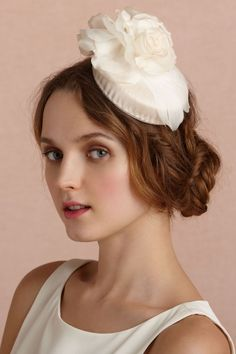 A sweet pillbox hat would be perfect at a vintage wedding (From BHLDN via Lover.ly)