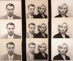 Joe DiMaggio and Marilyn Monroe's passport photos