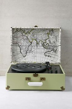 Crosley X UO AV Room Portable USB Vinyl Record Player; It's perfect, I love the map design