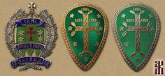 Знаки Дружины Святого креста и Зеленого знамени