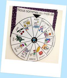 Mon joli petit bureau: DIY : un calendrier perpétuel pour enfant / Poutre du temps Montessori