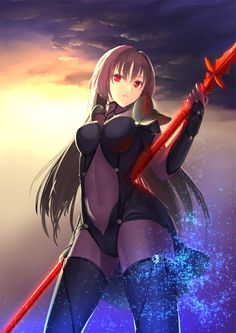 red eyes spears long hair Fate Series Fate/Grand Order Lancer (Fate/Grand Order)