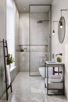 Amazing DIY Bathroom Ideas, Bathroom Decor, Bathroom Remodel and Bathroom Projects to assist inspire your master bathroom dreams and goals. Bathroom Layout, Modern Bathroom Design, Bathroom Interior Design, Bathroom Ideas, Bathroom Organization, Minimal Bathroom, Bathroom Storage, Bath Ideas, Tile Layout