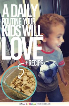 A Daily Routine Your Kids Will LOVE + Cinnamon Toast Crunch Marshmallow Bar Recipe - Fitness Fashionista #UpYourBreakfastGame #cg