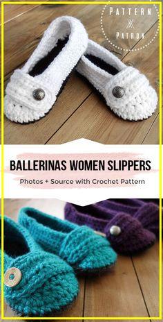 crochet The Ballerinas Slippers pattern - easy crochet slippers pattern for begi. crochet The Ballerinas Slippers pattern - easy crochet slippers pattern for beginners : crochet The Ballerinas Slippers . Crochet Patterns For Beginners, Knitting For Beginners, Knitting Patterns, Sewing Patterns, Easy Crochet Slippers, Crochet Slipper Pattern, How To Start Knitting, Learn To Crochet, Easy Knitting Projects