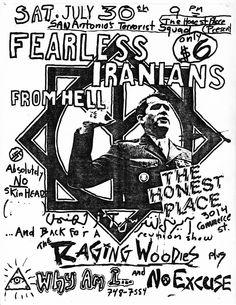 Punk show in Dallas 25 years ago
