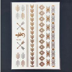 Ys06 золото продукты секса браслеты татуировки металл временные татуировки женщин вспышка золото серебро татуировки taty