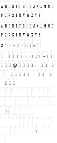 Bureau font alphabet.