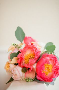 Love those deep pink flowers!! Are they roses or peonies?