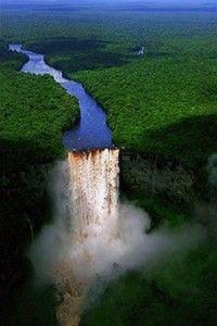 Kaieteur Falls in Potaro-Siparuni Region, Guyana.